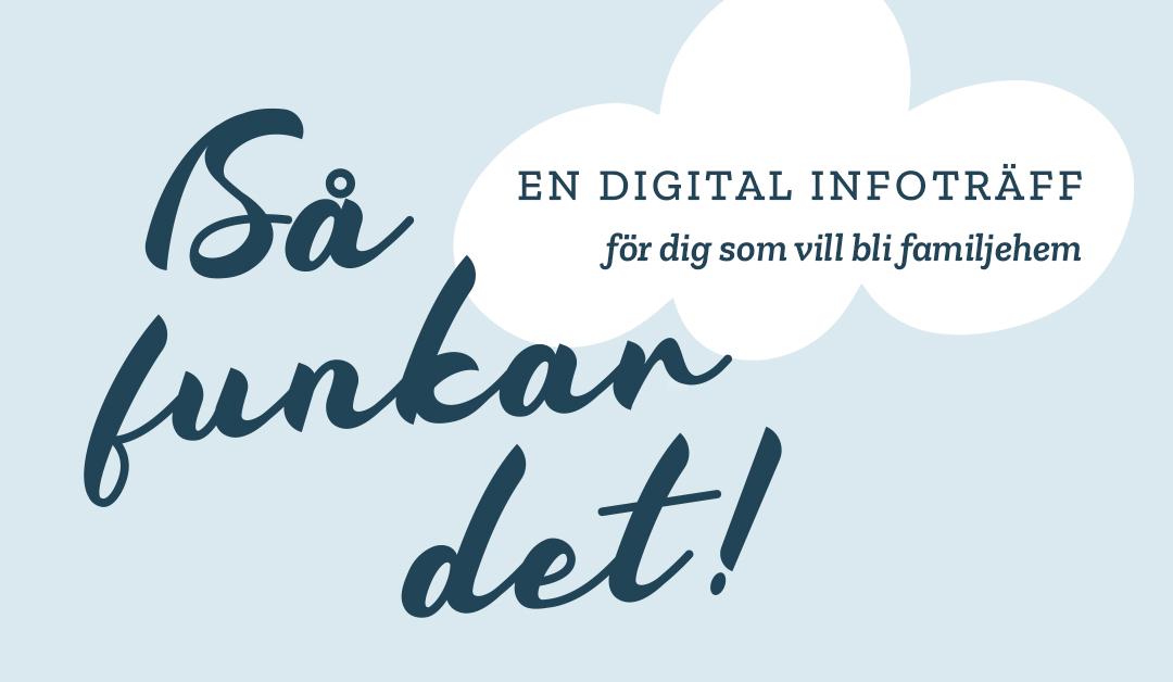 Så funkar det - digital infoträff för dig som vill bli familjehem i Härnösand, Kramfors, Sollefteå, Ånge eller Örnsköldsvik